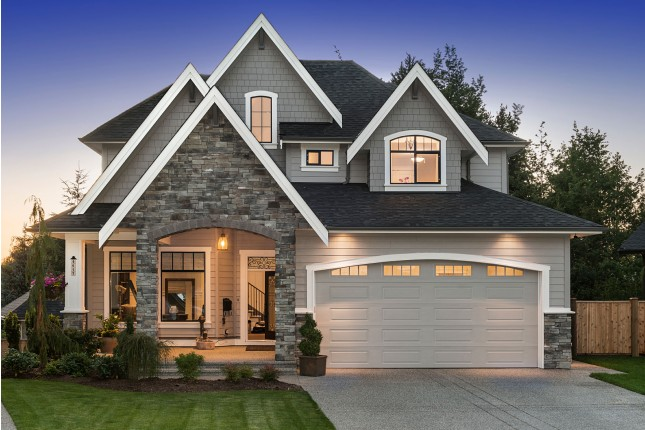 Custom Built Home Exterior