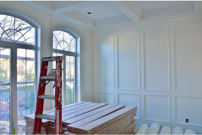 Charming Specifically, We Wrote About The Homes Elegant Coffered Ceiling And How We  Achieved ...
