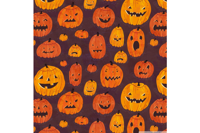 halloween pumpkins pattern wallpaper 1024x1024 1