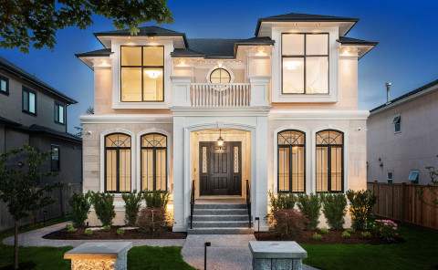 Custom Built vancouver home exterior front 2