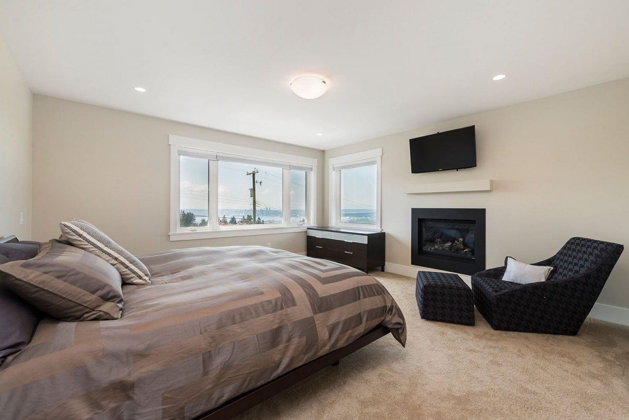 Upper Lonsdale Custom Home North Vancouver Master Bedroom