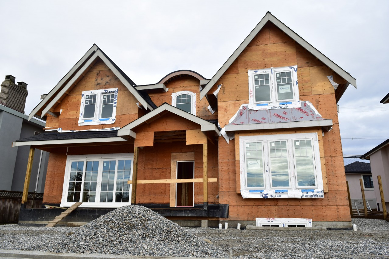 Buchanan, Burnaby Custom Home Under Construction