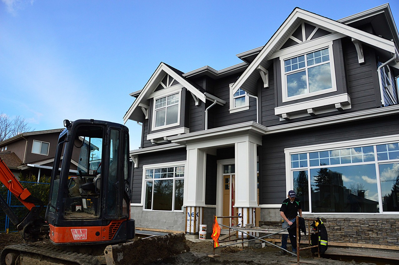 Burnaby Custom Home Under Construction