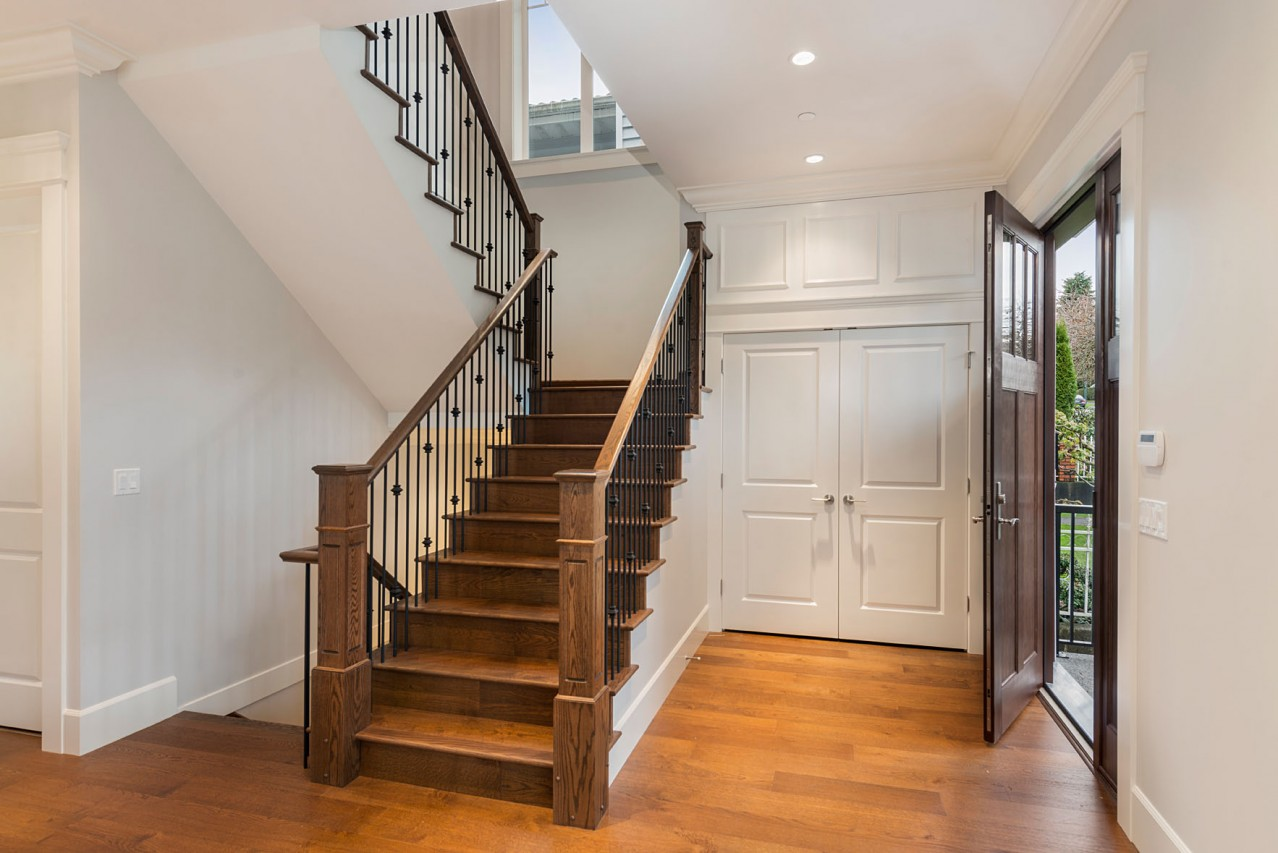 Mount Pleasant Vancouver Custom Home Stairs