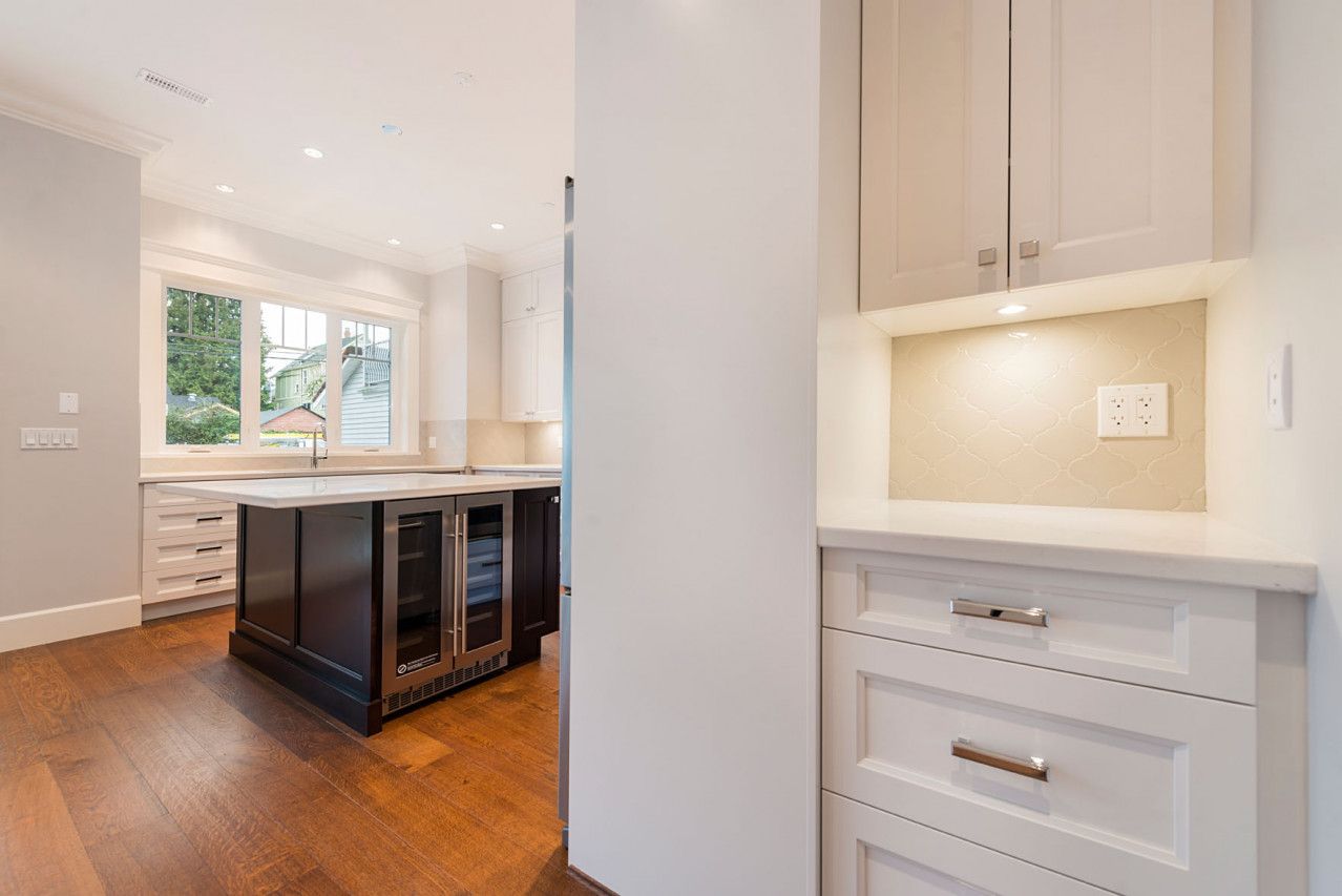 Mount Pleasant, Vancouver Custom Home Kitchen Alcove