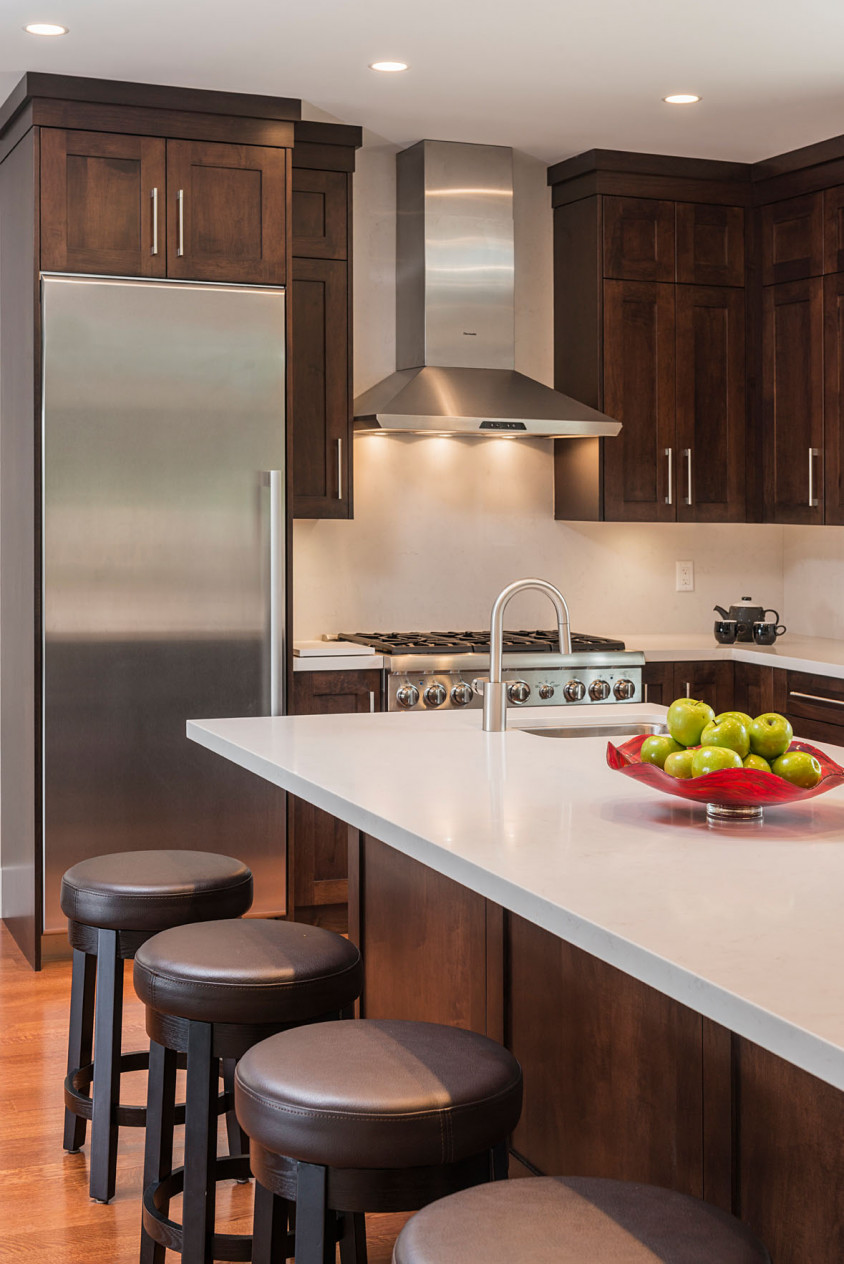 Upper Lonsdale Custom Home North Vancouver Kitchen Island