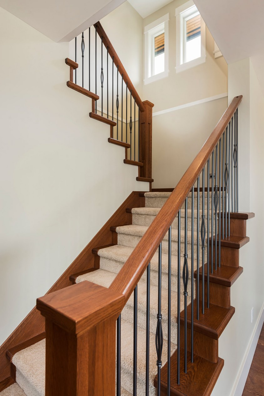 Bright North Van Stair Case