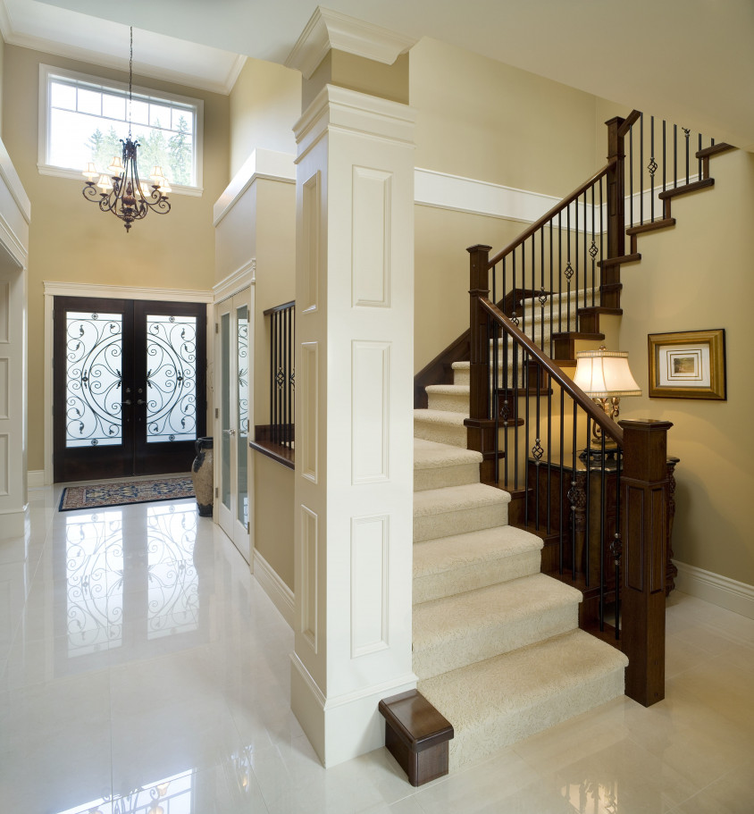 custom built home stairs