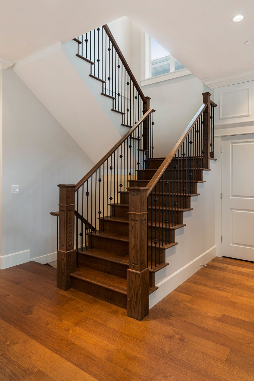 Mount Pleasant Vancouver Custom Home Staircase